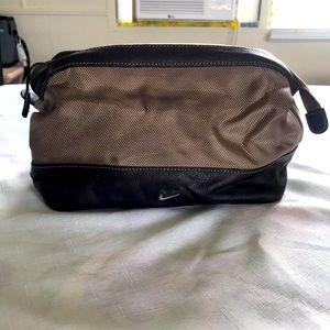 Nike Men's Brown Cosmetics Bag  7x11